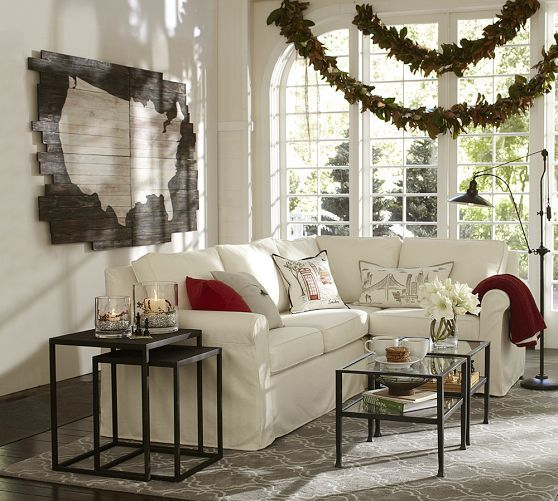 Pottery Barn Furniture Usa: Cameron Slipcovered 3-Piece Sectional With Corner
