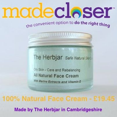 Product of the Week: 100% natural skin cream for oily skin made by The Herbjar in Cambridgeshire