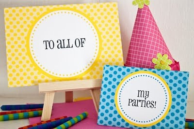 Free download for party cards you can customize!
