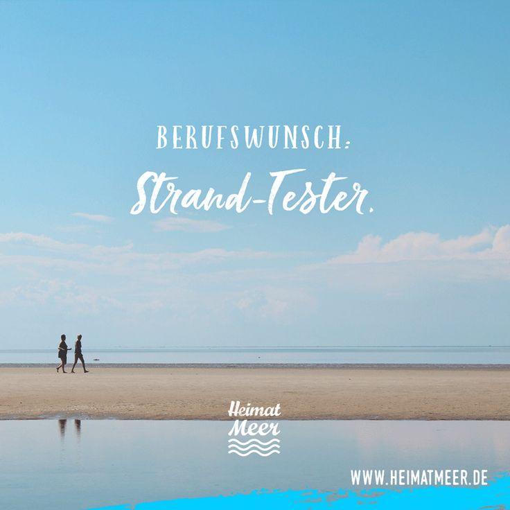 Berufswunsch: Strand-Tester. | Mee(h)r vom Meer >>