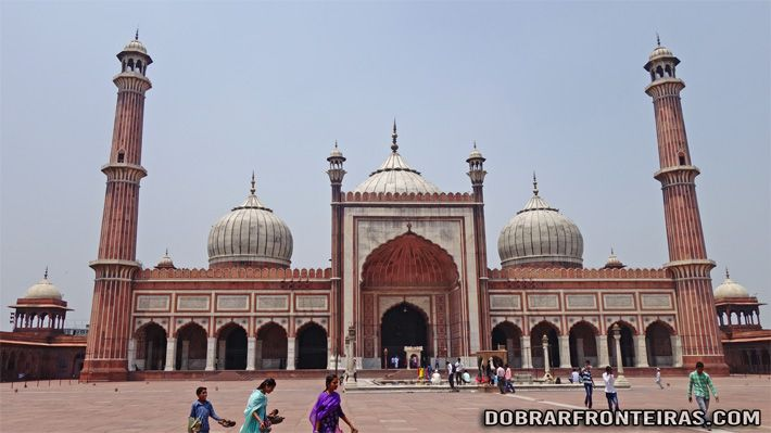 Mesquita de Jama Masjid em Deli, India