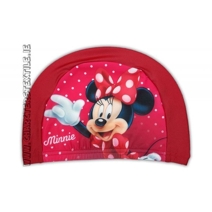 Disney Minnie swimming hat / cap Red  Lightweight easy stretch Spandex fabric which is quick drying and machine washable Girls Disney Minnie swimming hat red.