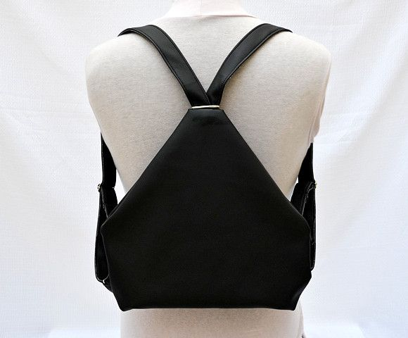 Backpacks – Rucksack. Black Eco Leather Backpack. – a unique product by Loutik on DaWanda