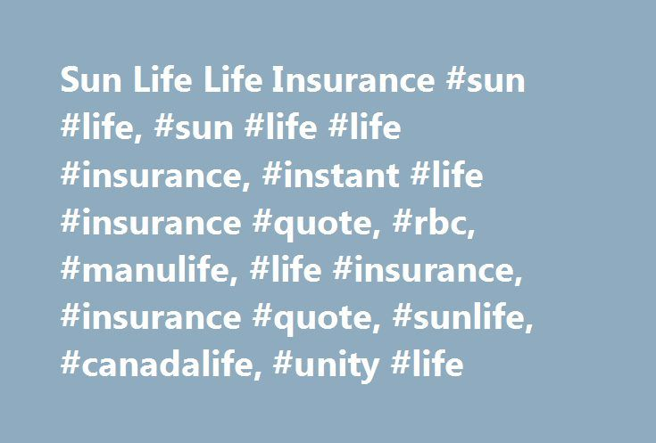 Sunlife Life Insurance Quote Best Sun Life Life Insurance Sun Life Sun Life Life Insurance
