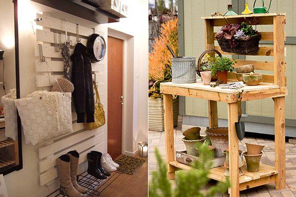 recycling holzpalette19 pflanztisch gardrobe aus. Black Bedroom Furniture Sets. Home Design Ideas