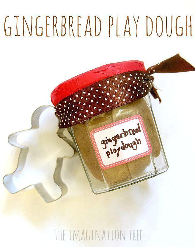 No-cook gingerbread play-dough recipe