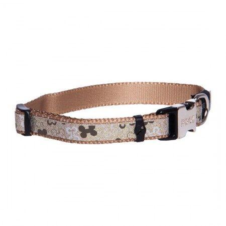 Rogz Lapz Trendy Dog collar Brown - Medium