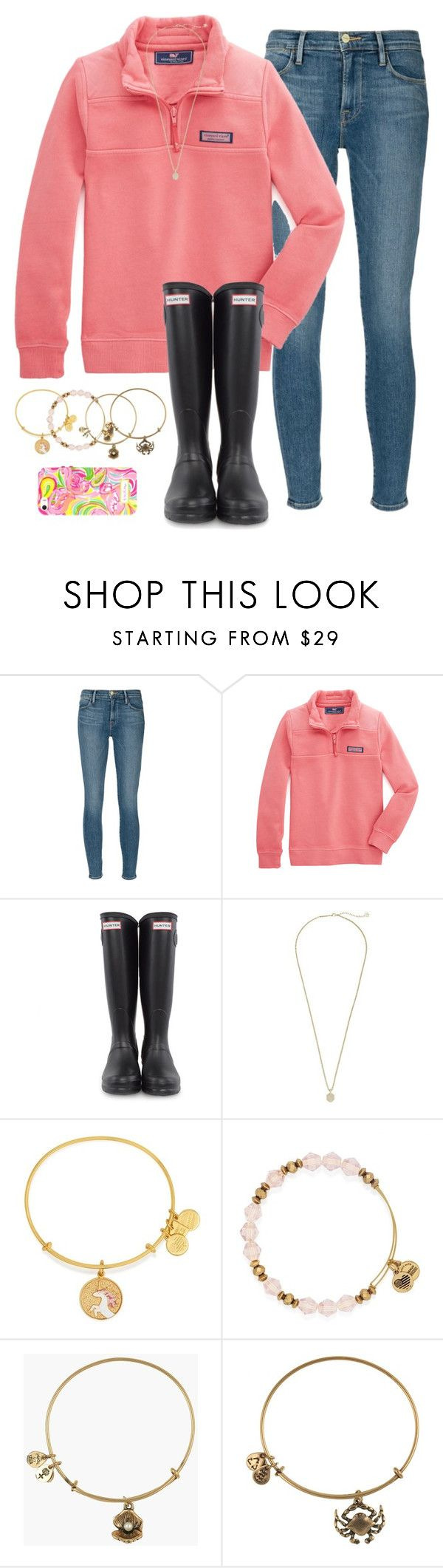 """""""go check out my blog, link in bio"""" by typical-lizzie ❤ liked on Polyvore featuring Frame Denim, Vineyard Vines, Hunter, Kendra Scott, Alex and Ani and Lilly Pulitzer"""