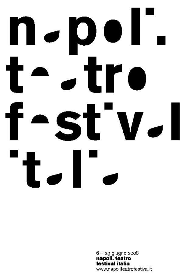 theatre festival poster by Leonardo Sonnoli + Paolo Tassinare (2008)