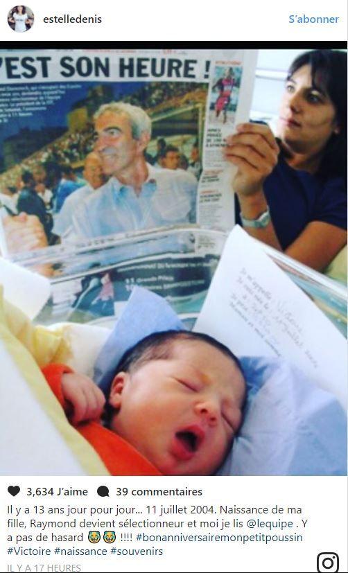 Actu : Estelle Denis partage une adorable photo de la naissance de sa fille