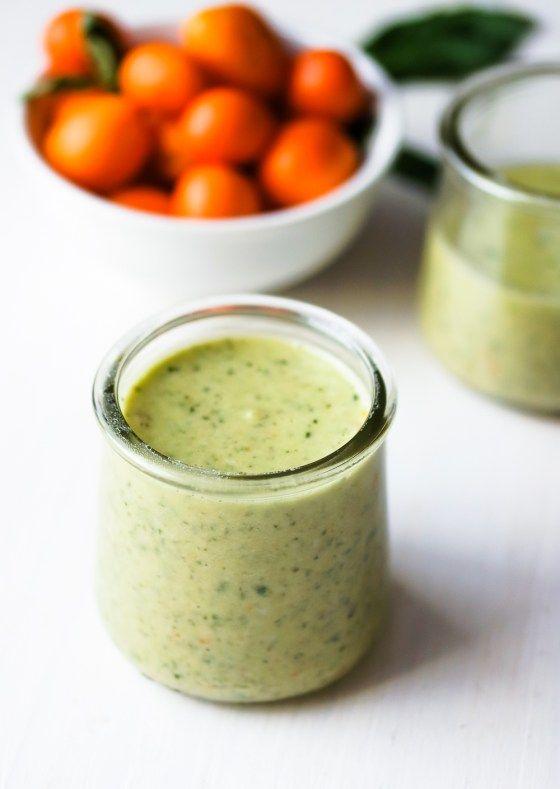 Detox Kale Salad with Kumquat Pumpkin Seed Pesto