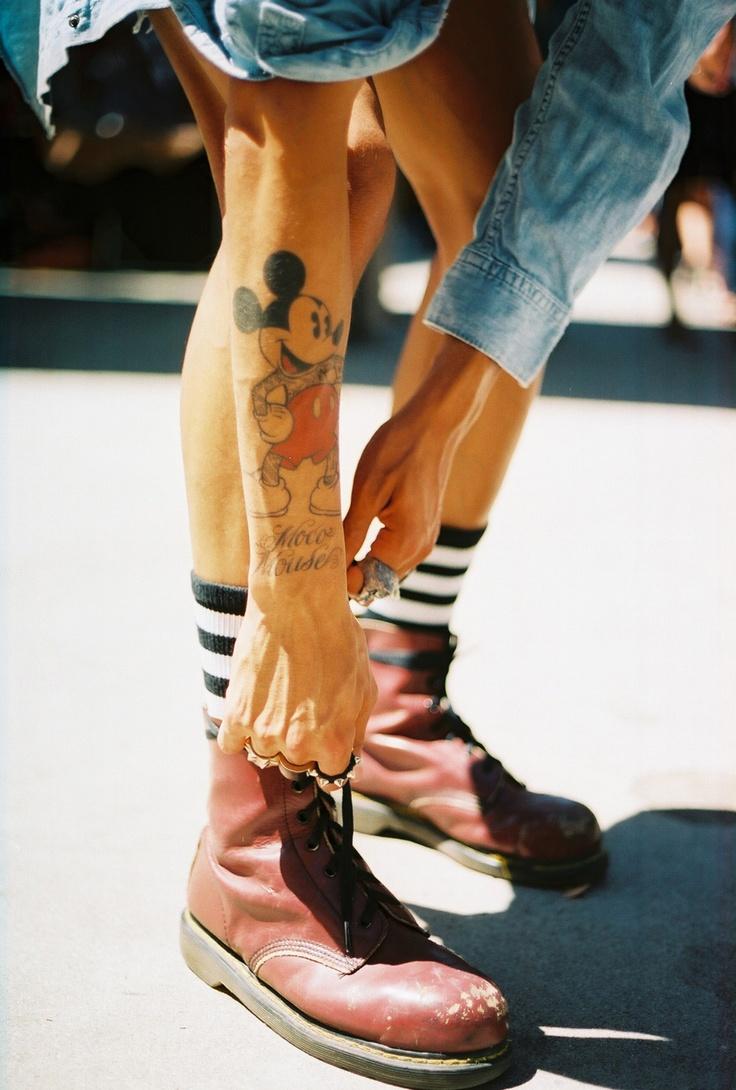 Streetstyle. #mickey #tattoo #ink