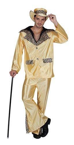 ADULTS MENS BIG DADDY PIMP RAPPER PLAYER GANGSTER 1960 1970s COSTUME FANCY DRESS