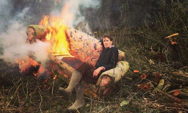Otis Ferry and his girlfriend set fire to their sofa