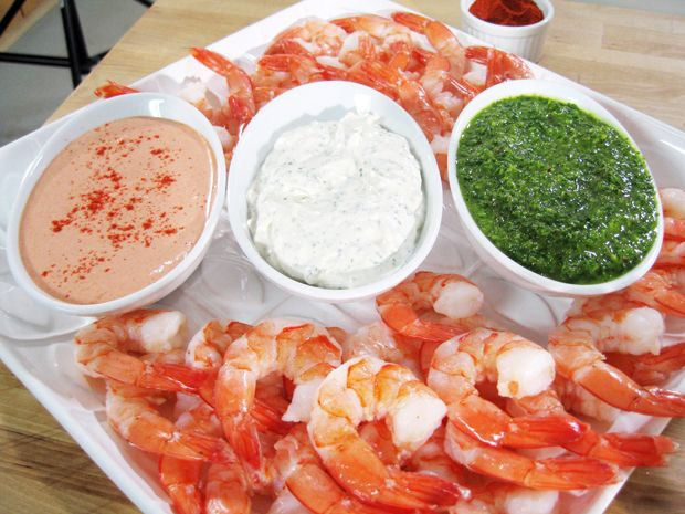 Parsley Paprika Pesto Shrimp Cocktail Sauce Recipe : Aida Mollenkamp : Food Network