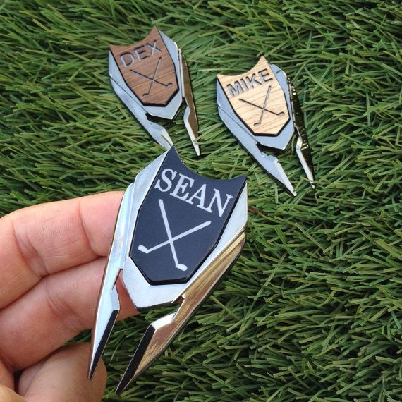 Personalized Golf Ball Marker & Divot Tool  Groom by woodulike