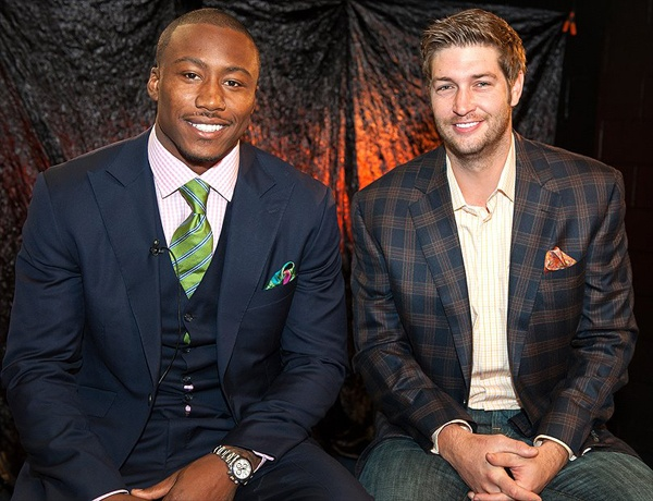 Brandon Marshall and Jay Cutler of the Chicago Bears