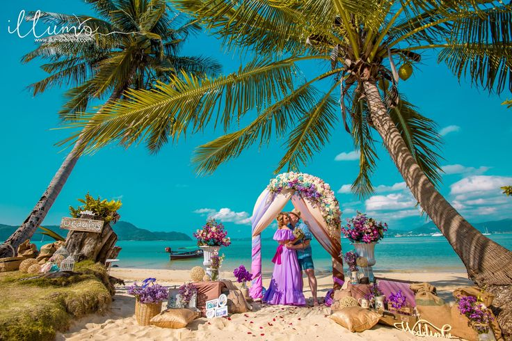 """Свадьба на пляже за 590$: ✔ Встреча с координатором ✔ Трансфер ✔ Цветочная арка, стойки, дорожка из лепестков, фотозона, аксессуары ✔ Букет, бутоньерка ✔ Фотосъемка 1,5 часа, 50 фото в ретуши и от 200 фото исходников ✔ Ведущий церемонии ✔ Свадебный сертификат ✔ Песочная церемония ✔ Фуршет из фруктов, вода и бутылка шампанского ✔ Подушечка для колец ✔ Музыкальное сопровождение церемонии * Доплата за дизайнерское оформление в стиле """"Прованс"""" - 200$  tel +79667557000 +66842478362 Viber, Watsapp"""