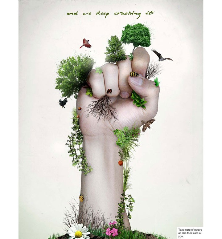This is your world. Take Care of Nature. Simple and to the point, another take action advertisement to the viewer.