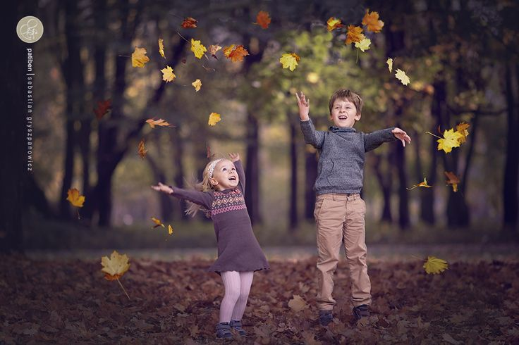 Autumn, children