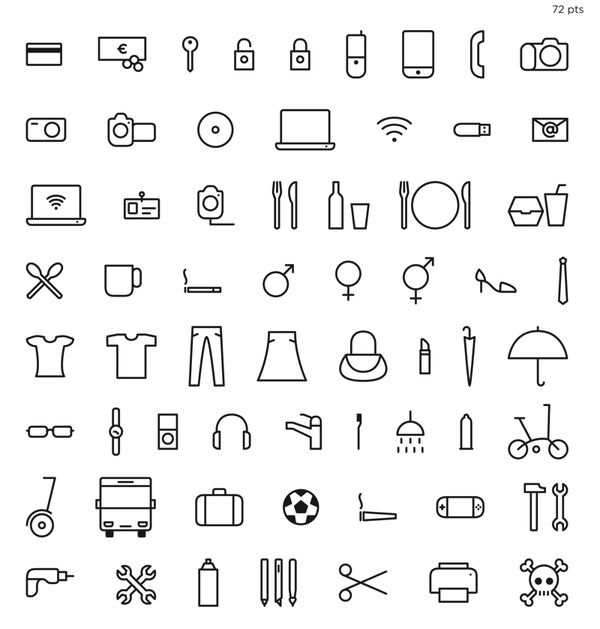 Icons: Life Thingbats by Xavier Cervelló, via Behance