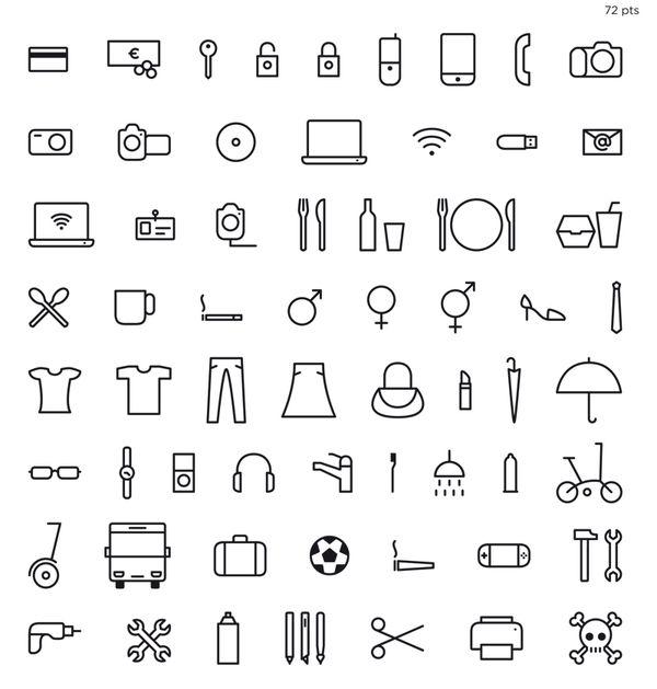 Icons: Life Thingbats by Xavier Cervelló, via Behance