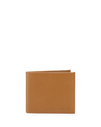 American Classic Saffiano Wallet, Caramel by Prada at Neiman Marcus.