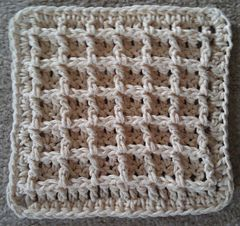 Waffle Crochet Dishcloth by Chip Flory via Ravelry. PDF SAVED.