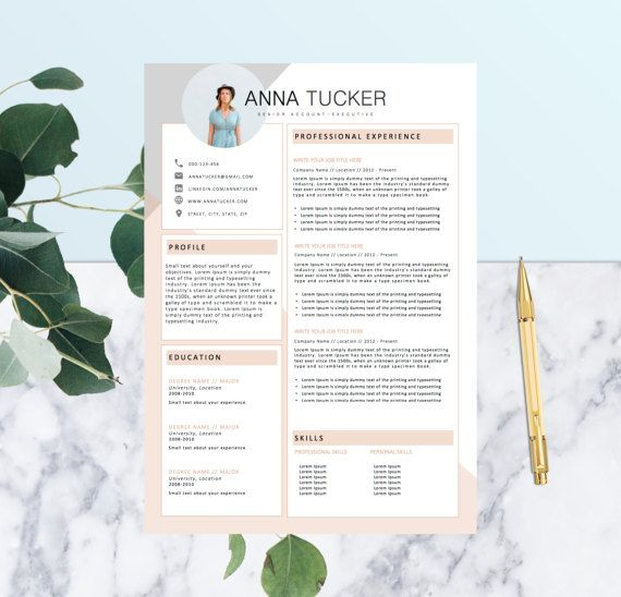 modern resume template cv template by resumeboulevard on etsy - Template Of A Resume