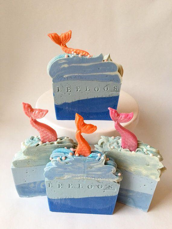 Most beautiful handmade soap ever! https://www.etsy.com/it/listing/248902532/under-the-sea-mermaid-soap-ocean-soap
