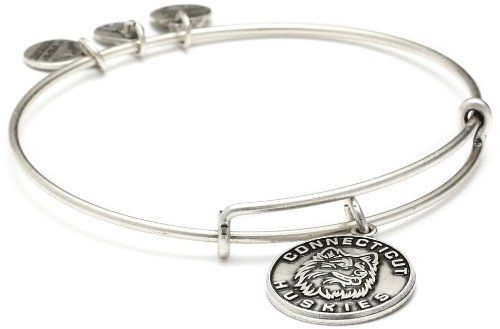 "Alex and Ani ""Collegiate"" UCONN Mascot Expandable Russian Silver Wire Bangle Bracelet Alex and Ani. $32.00. Items that are handmade may vary in size, shape and color. Alex and Ani patented expandable wire bangle concept allows the wearer to adjust the bangle for a perfect fit Made in USA. Made in United States. Made out of recycled materials. Alex and Ani patented expandable wire bangle concept allows the wearer to adjust the bangle for a perfect fit"