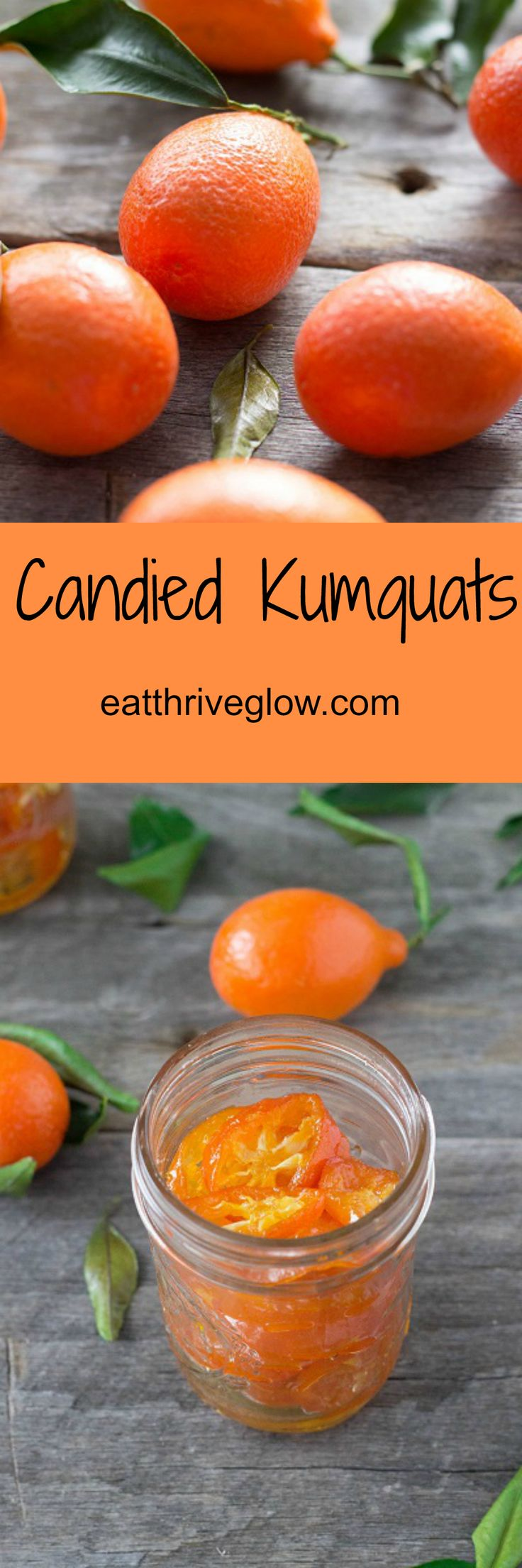 Candied kumquats recipe. Sweet, tart, & tangy all at once! Perfect citrus simple syrup for drinks and cocktails. Can also use orangequats.