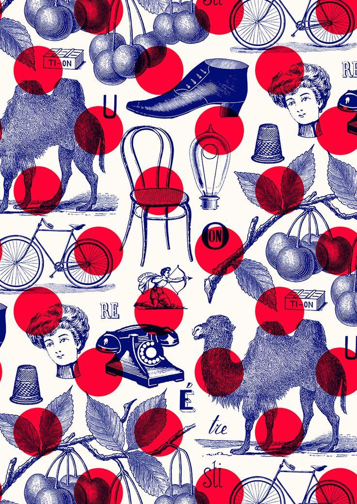pattern by Minakani #dot # camel #minakani