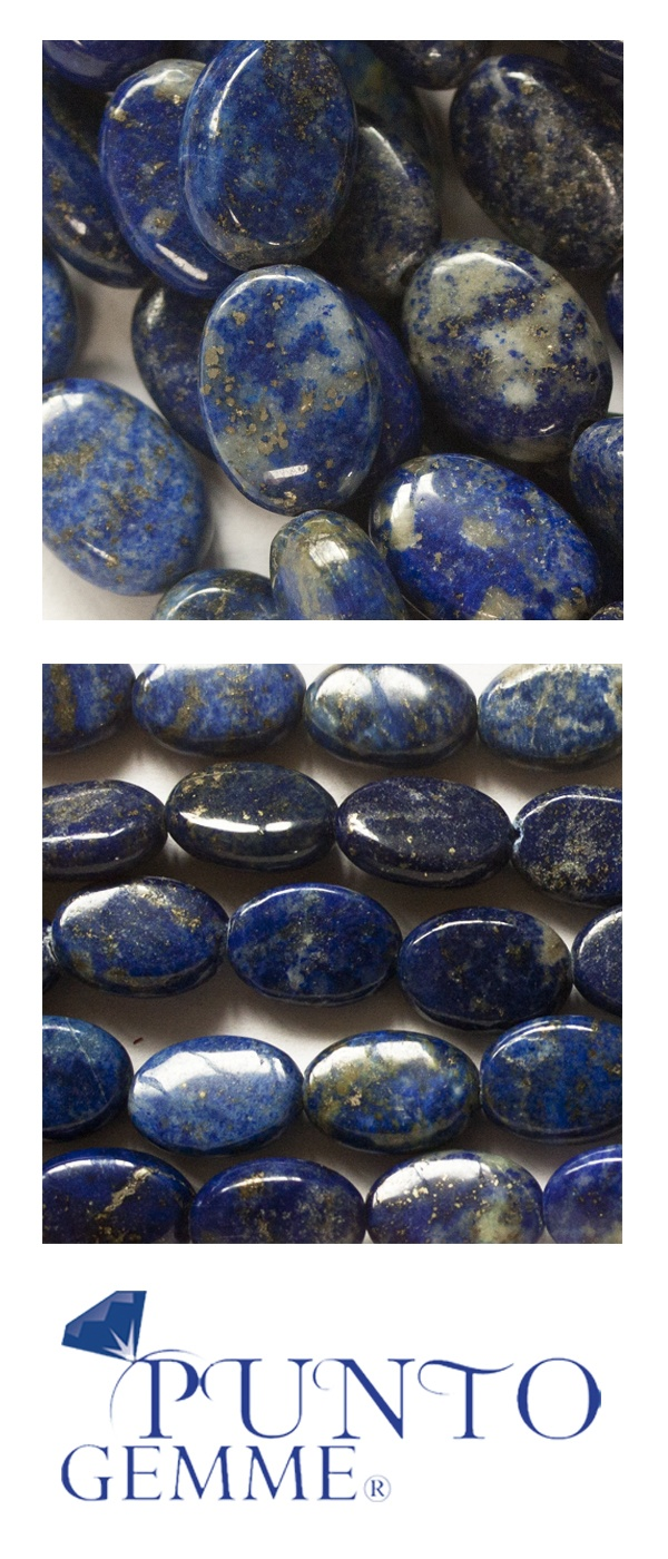 Flat Oval of lapis 10x14mm #lapis #gemstone #gemmopoli