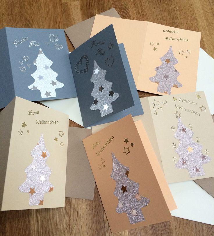 Weihnachtskarten basteln kreativ ideen basteln - Weihnachtskarten kreativ ...