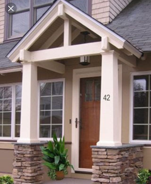 Entrance With Portico Columns : Best ideas about portico entry on pinterest front