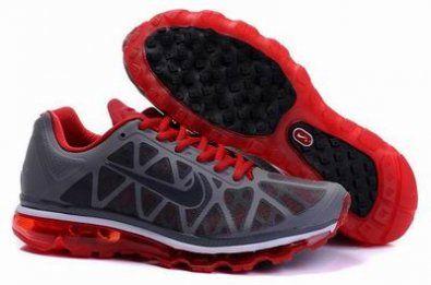 Nike Air Max 2011 ( Mesh) gris / rojo http://www.esnikerun.com/