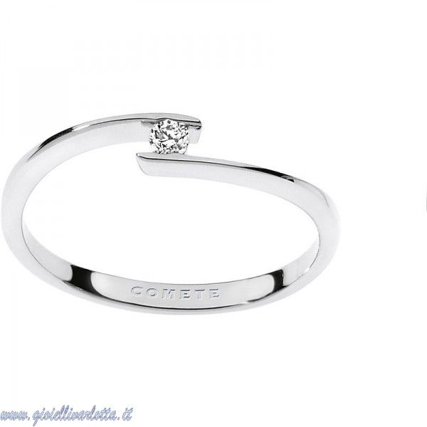 Anello Fidanzamento Solitario Oro e Diamante COMETE GIOIELLI ANB 1677   http://www.gioiellivarlotta.it/product.php?id_product=912