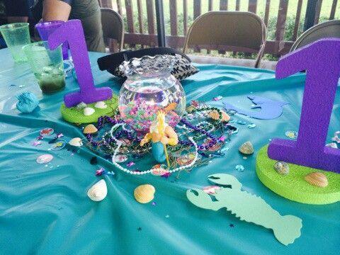 1000 ideas about little mermaid centerpieces on pinterest little mermaid birthday mermaid. Black Bedroom Furniture Sets. Home Design Ideas