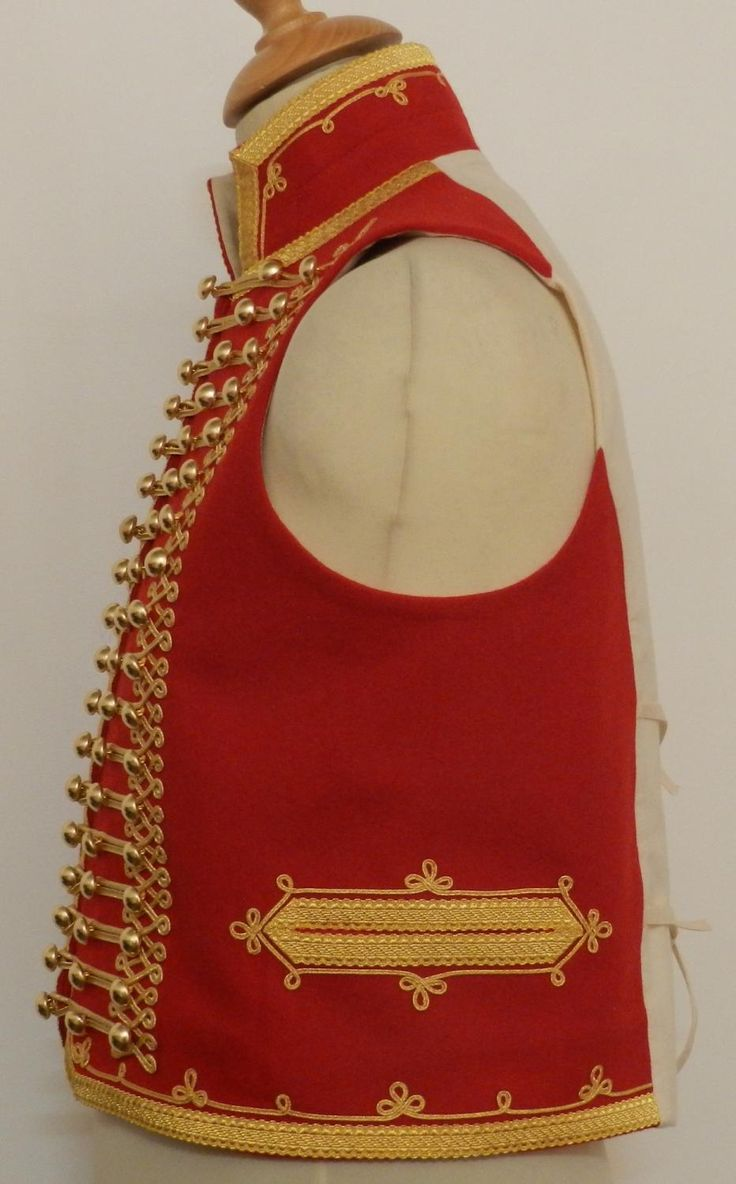Waistcoat for light cavalry officer