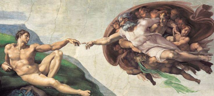 Puzzle CLEMENTONI 13200 dílků - Michelangelo, Stvoření Adama
