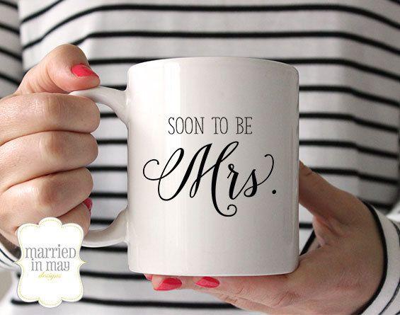 Coffee Mug, Engagement Ring Mug, Soon to Be Mrs, Ceramic Mug, Quote Mug, Married in May, Unique Coffee Mug Gift Coffee, Gift Idea for Bride