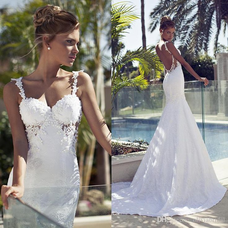 10 best images about wedding dresses on pinterest a line for Backless satin wedding dress