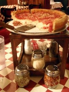 Chicago deep dish pizza... yes, that's CHEESE.  There's nothing else like it!