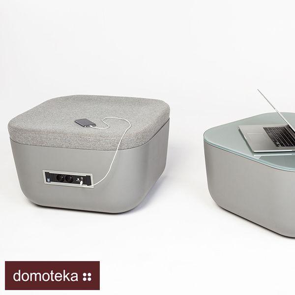 Wybrane kolekcje NOTI, na specjalne zamówienie, mogą być wyposażone w mediaport z dwoma gniazdami elektrycznymi oraz dwoma wejściami USB - ładowarką. Wykonany jest on z tworzywa z obudową aluminiową. Ramka stalowa - uchwyt malowany jest proszkowo. Dostępne są dwie możliwości montażu: montaż pod siedziskiem oraz w siedzisku w środkowej jego części.