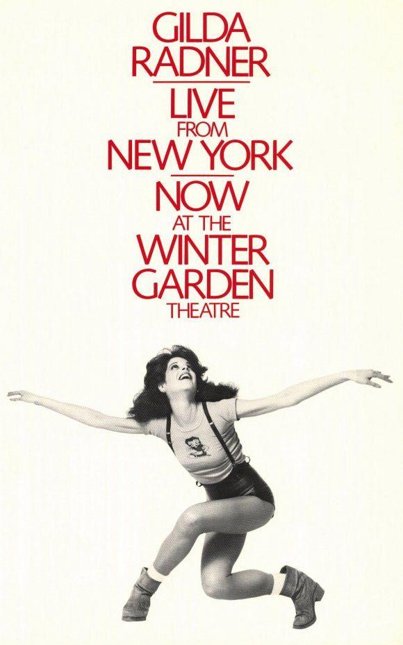 Gilda Radner Live From New York 11x17 Broadway Show Poster (1979)