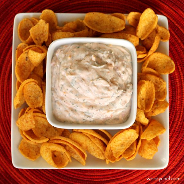 Super Easy Sour Cream Mexican Dip - The Weary Chef