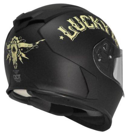 Torc T14B Blinc Loaded Bullhead Lucky 13 Mako Full Face Helmet
