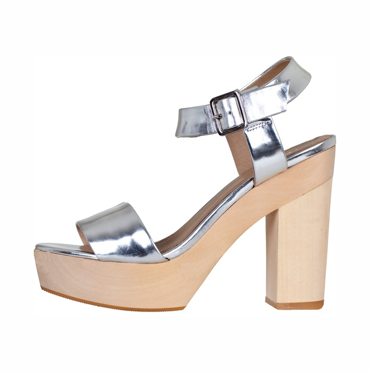 Gorman Shoe - Take comfort and style to a new level with this chunky metallic heel. Goes with everything! #RacingStyle