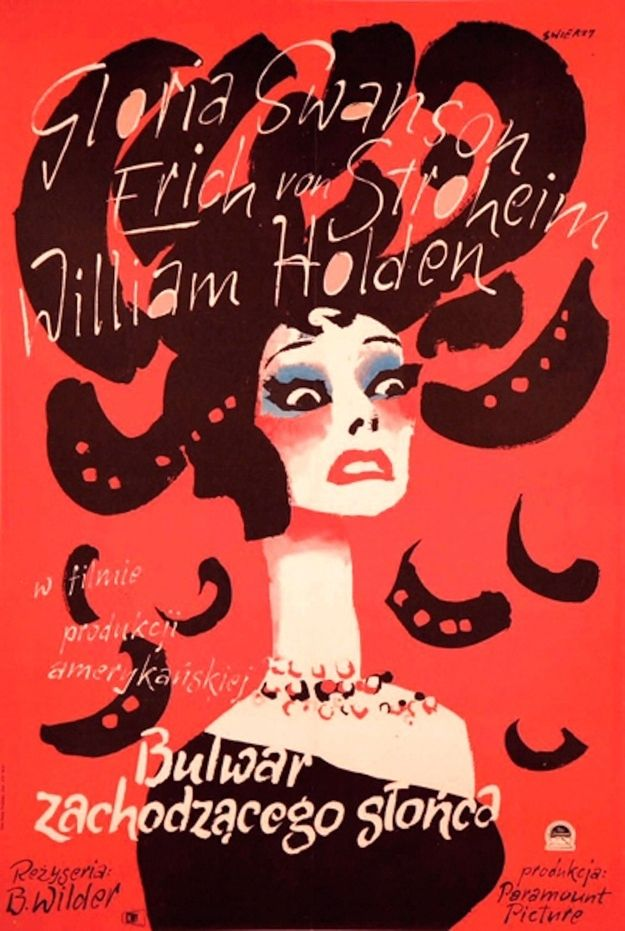 Sunset Boulevard | 45 Amazing Vintage Polish Posters Of Classic American Films